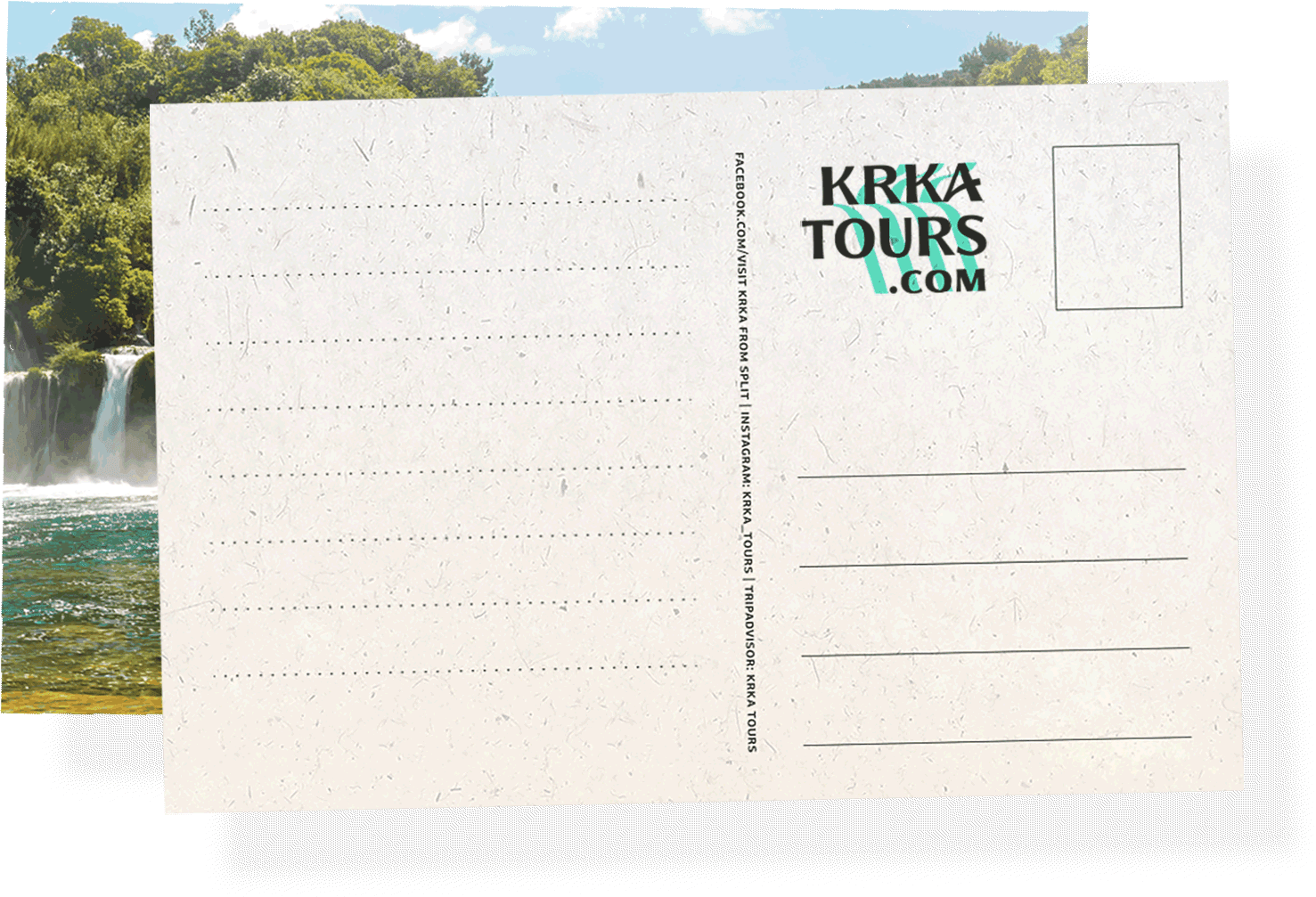 Free postcard - Tour Highlights - One day trip to National Park Krka
